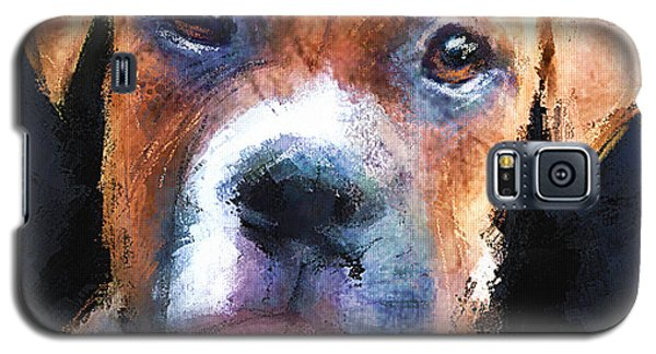 Galaxy S5 Case featuring the painting Pooch by Robert Smith