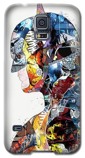 Galaxy S5 Case featuring the painting Pop Art Batman by Bri B