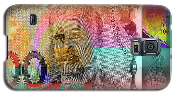 Pop-art Colorized New One Hundred Canadian Dollar Bill Galaxy S5 Case