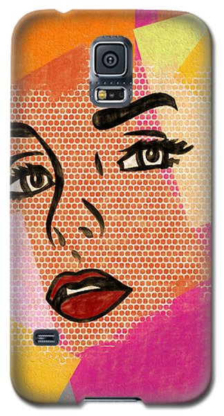Galaxy S5 Case featuring the mixed media Pop Art Comic Woman by Dan Sproul