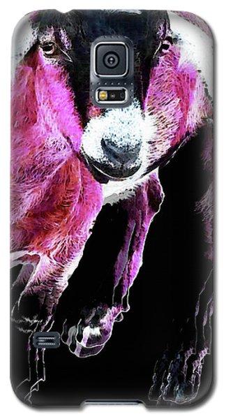 Pop Art Goat - Pink - Sharon Cummings Galaxy S5 Case by Sharon Cummings