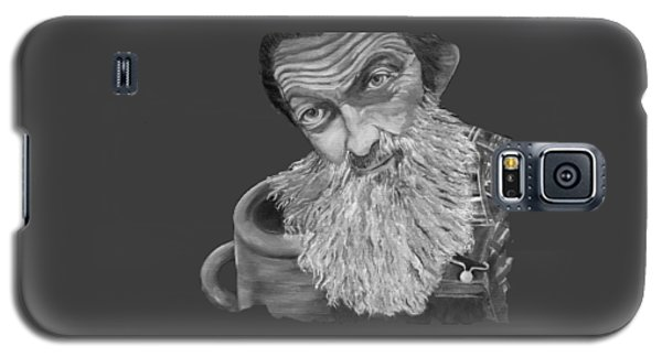 Popcorn Sutton Black And White Transparent - T-shirts Galaxy S5 Case
