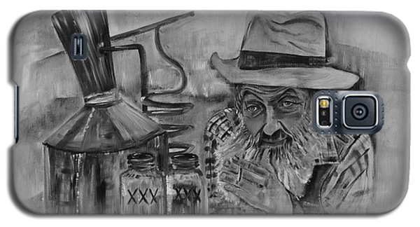 Popcorn Sutton - Black And White - Waiting On Shine Galaxy S5 Case