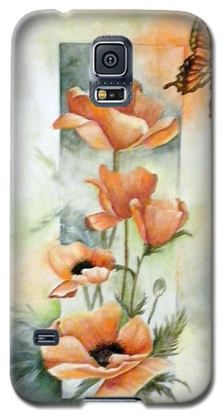 Poppies And Butterfly Galaxy S5 Case