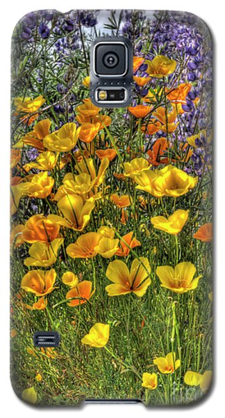 Galaxy S5 Case featuring the photograph Poppies And Lupines by Jim and Emily Bush
