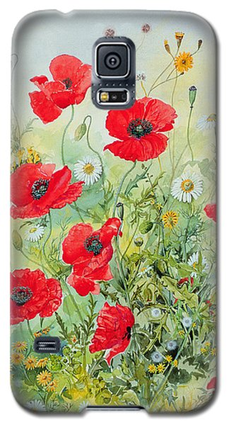 Garden Galaxy S5 Case - Poppies And Mayweed by John Gubbins