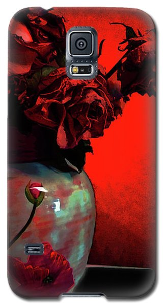 Poppies And Roses Galaxy S5 Case