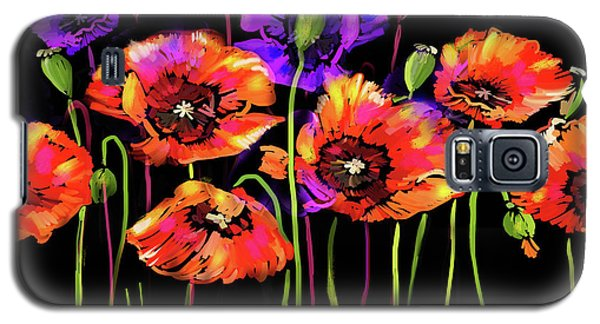 Poppies Galaxy S5 Case by DC Langer