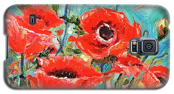 Galaxy S5 Case featuring the painting Poppies Delight by Jennifer Beaudet