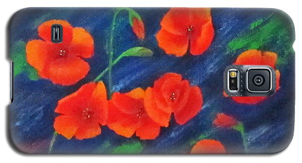 Poppies In Abstract Galaxy S5 Case