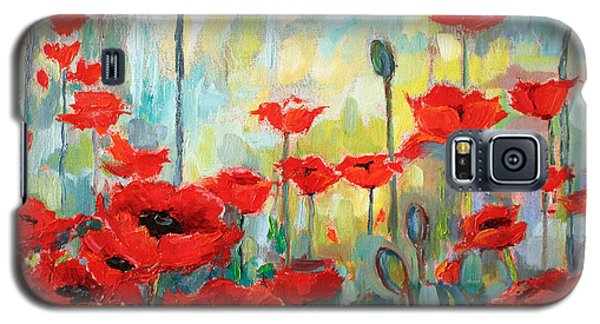 Galaxy S5 Case featuring the painting Poppies In Bloom by Jennifer Beaudet
