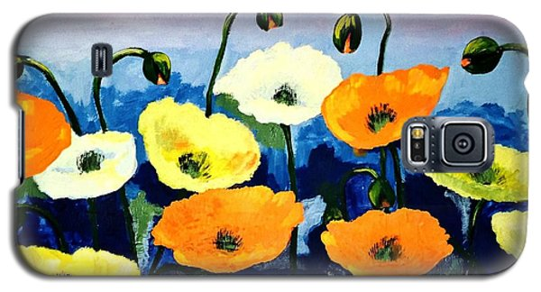 Poppies In Colour Galaxy S5 Case