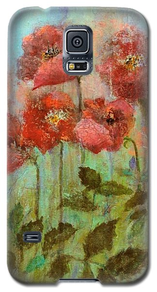 Poppies In Pastel Watercolour Galaxy S5 Case