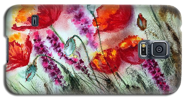Poppies In The Wind Galaxy S5 Case