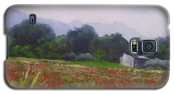 Galaxy S5 Case featuring the painting Poppies In Tuscany by Chris Hobel