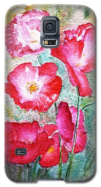 Galaxy S5 Case featuring the painting Poppies by Jasna Dragun