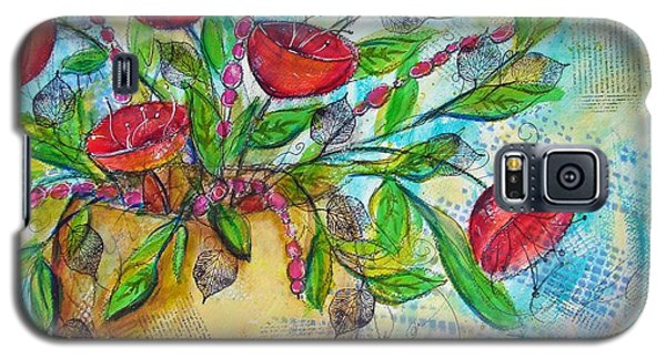 Poppies Galaxy S5 Case by Karin Husty