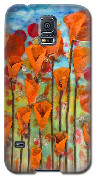 Poppies Make Me Happy Galaxy S5 Case