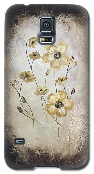 Poppies On Black Galaxy S5 Case