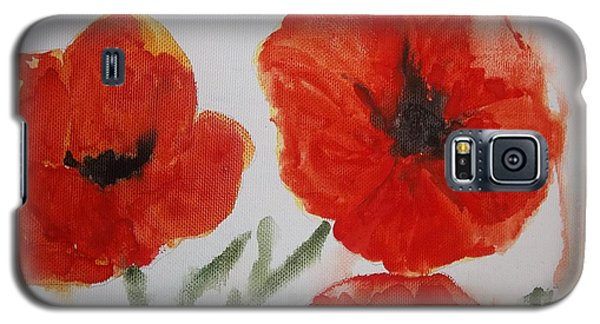 Poppies On Linen Galaxy S5 Case