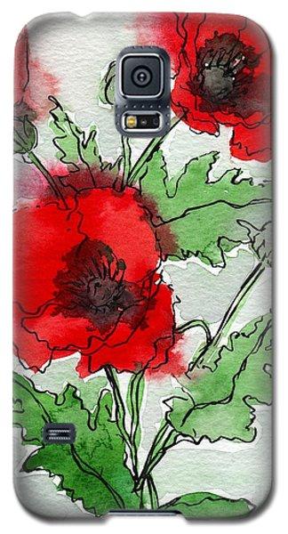 Watercolor Poppies Galaxy S5 Case
