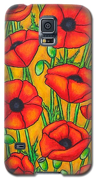 Poppies Under The Tuscan Sun Galaxy S5 Case