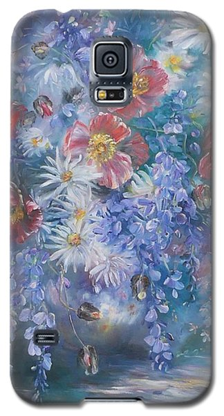 Poppies, Wisteria And Marguerites Galaxy S5 Case