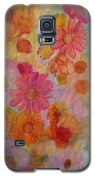 Galaxy S5 Case featuring the painting Popping by Kim Nelson