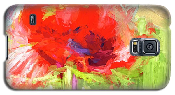 Galaxy S5 Case featuring the photograph Poppy Abstract Photo Art by Sharon Talson