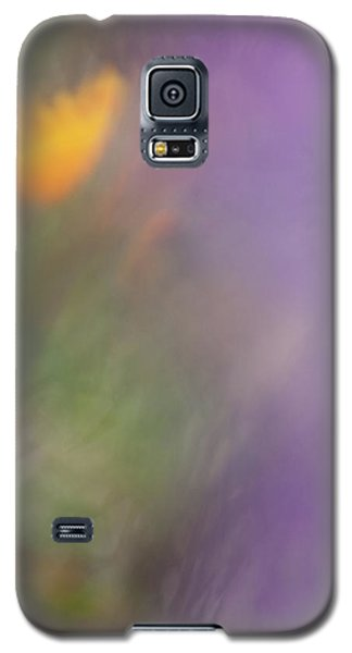 Galaxy S5 Case featuring the photograph Poppy And Purple Lupine by Roger Mullenhour