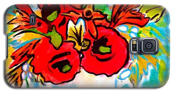 Poppy Bouquet Reworked Galaxy S5 Case