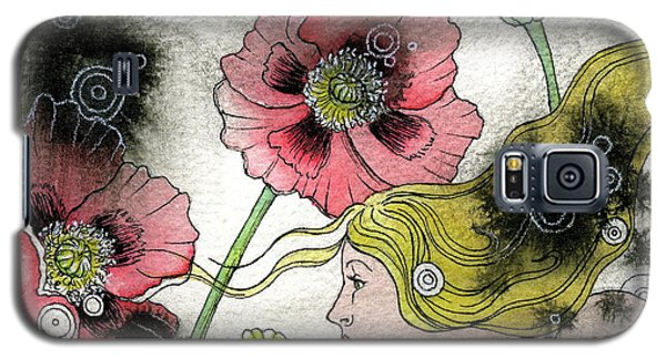 Galaxy S5 Case featuring the painting Poppy Dream by Sheri Howe