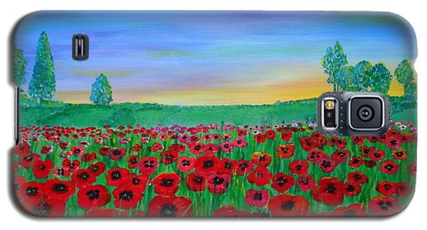 Poppy Field At Sunset Galaxy S5 Case