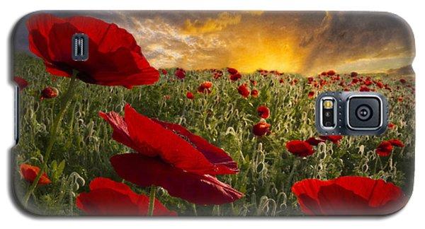Poppy Field Galaxy S5 Case by Debra and Dave Vanderlaan
