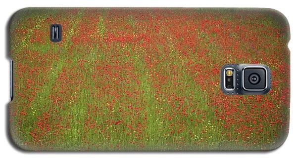 Poppy Field In Europe Galaxy S5 Case