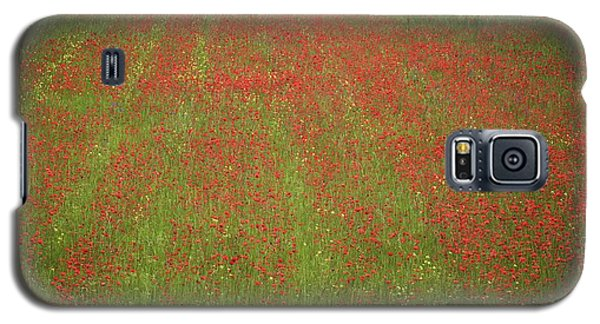 Galaxy S5 Case featuring the photograph Poppy Field In Europe by Colleen Williams