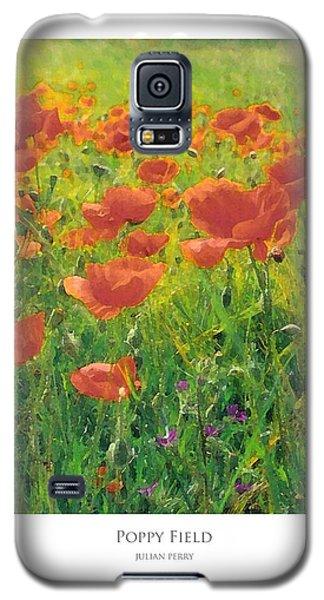 Poppy Field Galaxy S5 Case