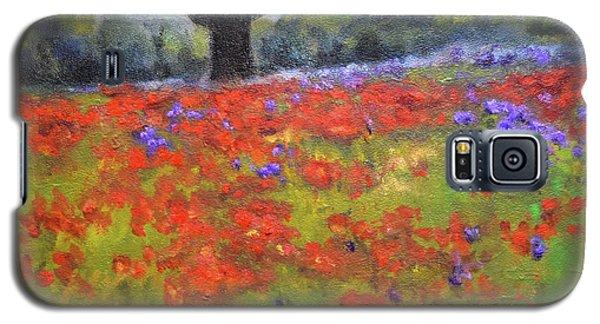 Poppy Field W Tree Galaxy S5 Case