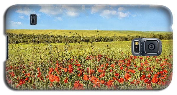 Galaxy S5 Case featuring the photograph Poppy Fields by Marion McCristall