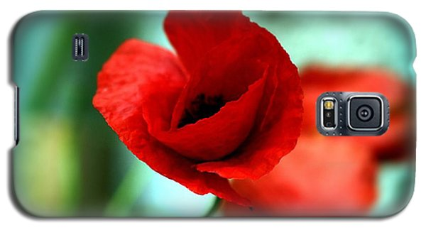 Galaxy S5 Case featuring the photograph Poppy Flower by Emanuel Tanjala