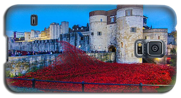 Poppy Flowers Tower Of London Galaxy S5 Case