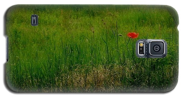 Galaxy S5 Case featuring the photograph Poppy In The Field by Marija Djedovic