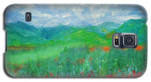 Poppy Meadows Galaxy S5 Case