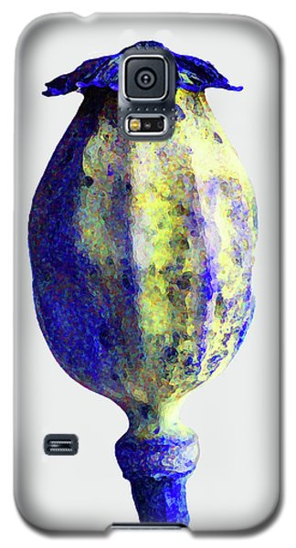 Poppy Seedhead - Blue Galaxy S5 Case