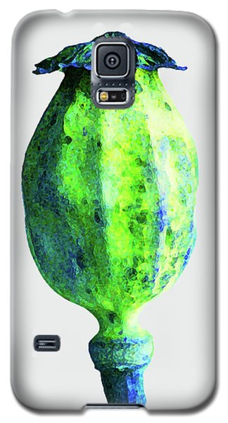 Poppy Seedhead - Green Galaxy S5 Case
