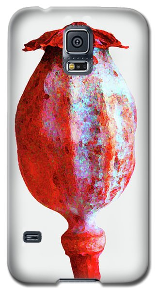 Poppy Seedhead - Red Galaxy S5 Case