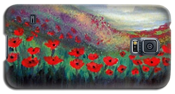 Galaxy S5 Case featuring the painting Poppy Wonderland by Holly Martinson
