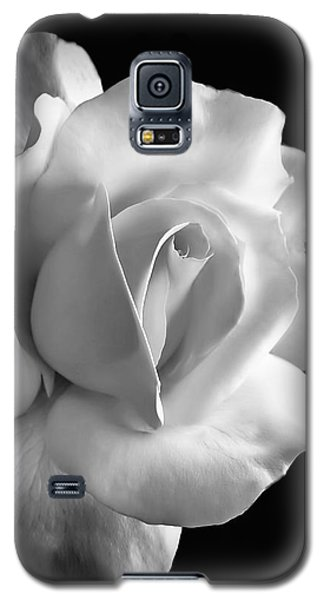 Porcelain Rose Flower Black And White Galaxy S5 Case
