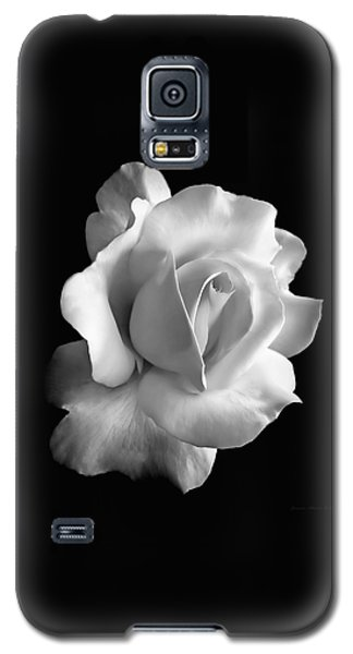 Porcelain Rose Flower Black And White Galaxy S5 Case by Jennie Marie Schell