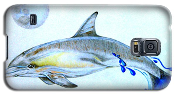 Galaxy S5 Case featuring the drawing Porpoise by Mayhem Mediums